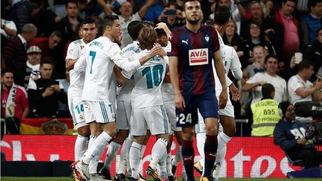 Real Madrid evinde rahat kazandı