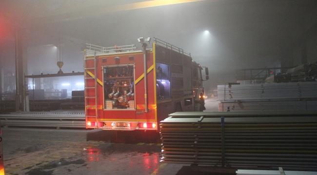 Konyada alüminyum fabrikasında yangın