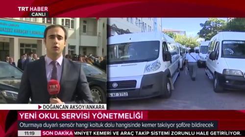 Okul servis yönetmeliği detaylarını TRT Haber muhabiri Aksoy aktardı