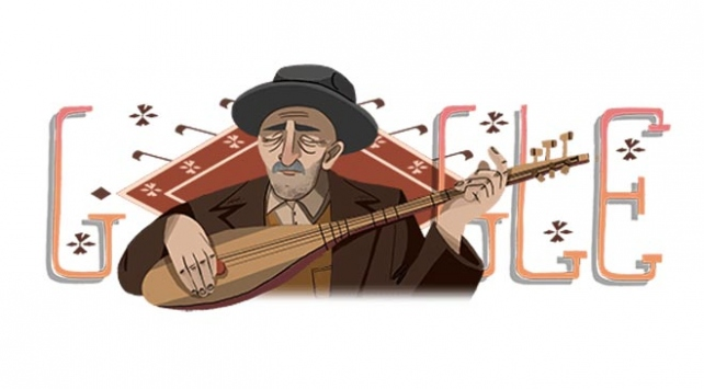 Google Aşık Veysele özel doodle yaptı