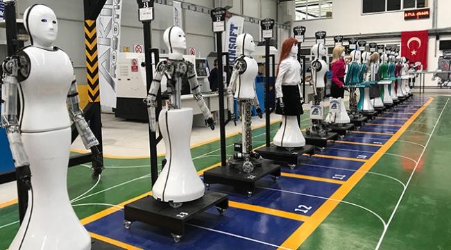 Türkiyenin ilk insansı robot fabrikası açıldı