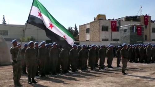 Türkiye'nin verdiği 2 aylık eğitimin ardından 300 Suriyeli polis törenle göreve başladı
