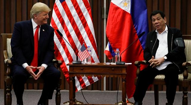 Duterte ile görüşen Trump: Çok iyi bir ilişkimiz var