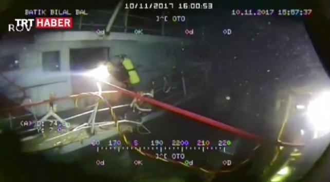 Deniz Kuvvetleri dalgıçları Şilede batan yük gemisine daldı