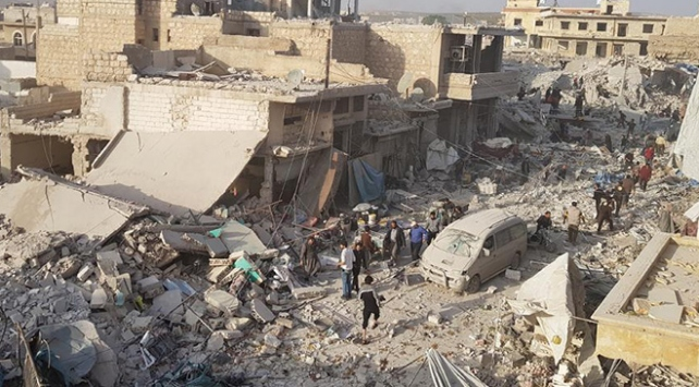 Halepte pazar yeri saldırısında ölü sayısı 57ye yükseldi