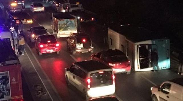 İstanbulda zincirleme trafik kazası: 6 yaralı