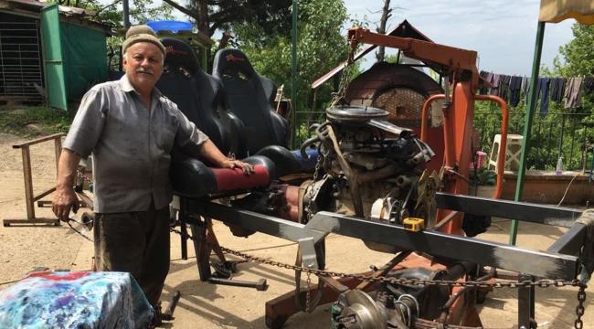 5 bin lira harcayarak yaptığı araç yarışlarda derece topluyor