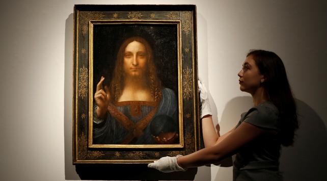 """da Vincinin Salvator Mundi""""sine rekor fiyat"""