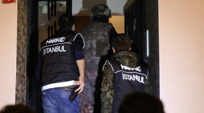 İstanbulda 10 adrese uyuşturucu operasyonu