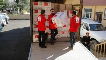 Türk Kızılayından Süleymaniyedeki depremzedelere yardım