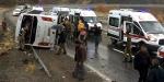 Elazığda yolcu otobüsü devrildi: 2 ölü, 18 yaralı