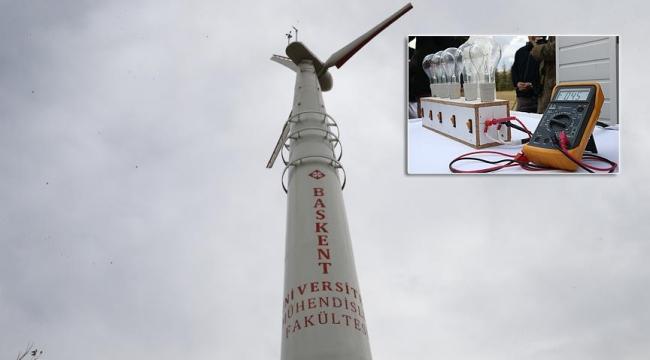 Türk tasarımı rüzgar türbini çalıştırıldı