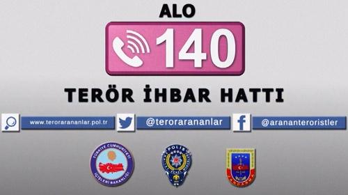 """""""Alo 140 Terör İhbar Hattı"""" için iki yeni kamu spotu"""