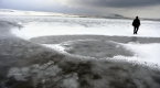 Ardahandaki Aktaş Gölü dondu