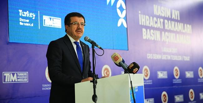 Türkiye 2017 yılının 11 ayında, 2016nın ihracatını geçti
