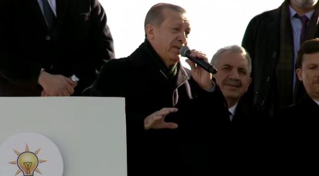 Cumhurbaşkanı Erdoğan, Karsta halka hitap etti