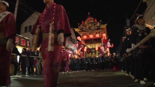 Japonya'da gece festivali