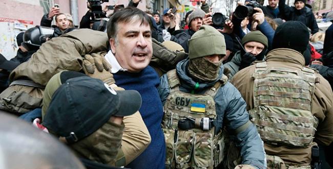 Gürcistanın eski Cumhurbaşkanı Saakaşvili Ukraynada gözaltına alındı