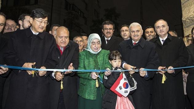 Başbakan Yıldırım Seul Büyükelçiliğinin binasını Ayla ile açtı