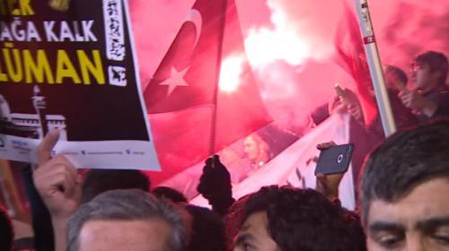 ABDnin Ankara Büyükelçiliği önünde protesto gösterisi düzenlendi