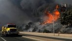 Kaliforniyada yangın nedeniyle on binlerce kişi tahliye edildi