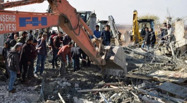 Şanlıurfada inşaat çöktü