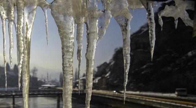 En düşük sıcaklık eksi 17 dereceyle Karsta ölçüldü