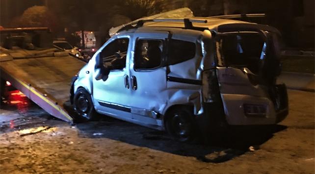 Gaziantepde asker uğurlama dönüşü kaza: 1 ölü, 7 yaralı