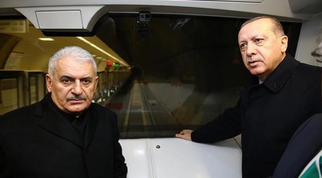 Erdoğan ve Yıldırım sürücüsüz metronun ilk seferine katıldı