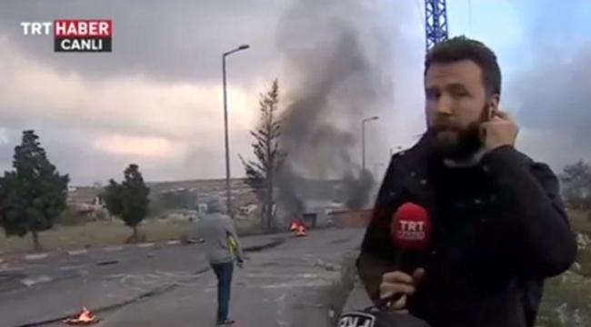 TRT Muhabiri Mehmet Akif Ersoy Ramallahta çatışmaların ortasından son durumu aktardı