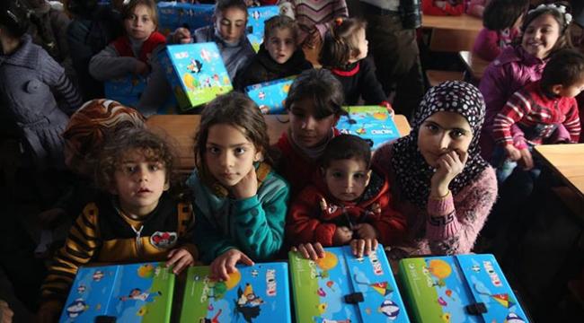 İHH Suriyedeki yetimlerin yüzünü anaokuluyla güldürdü