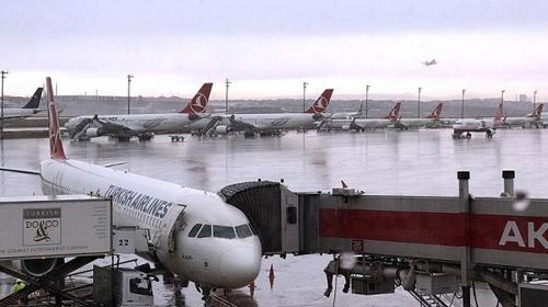 İstanbulda yağışlar hava ulaşımını etkiledi