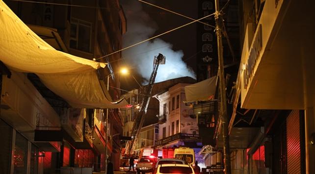 Ankarada otel yangını
