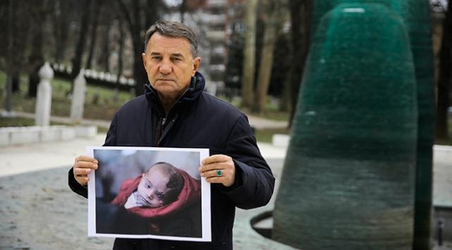 Kızını savaşta kaybeden Boşnak babadan Kerim bebeğe destek