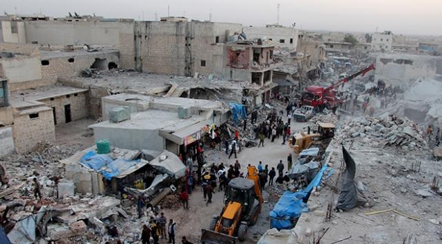 SNHR, Halepteki saldırıdan Rusyayı sorumlu tuttu