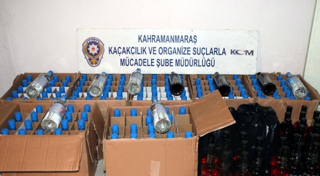 Yılbaşı öncesi 200 şişe kaçak içki ele geçirildi