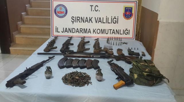 Şırnaktaki PKK operasyonunda çok sayıda mühimmat bulundu