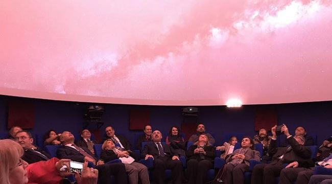 Türkiyenin ilk 4K çözünürlüklü planetaryumu açıldı