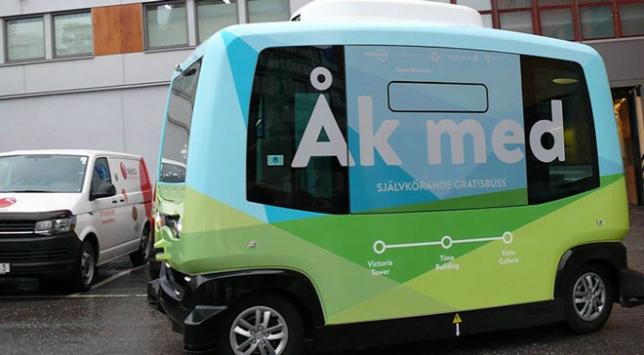 """İsveçte """"sürücüsüz minibüs"""" dönemi başlıyor"""