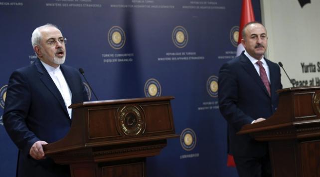 Dışişleri Bakanı Mevlüt Çavuşoğlu, İranlı mevkidaşıyla görüştü