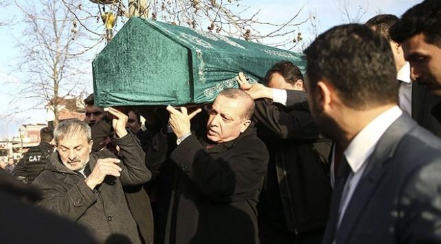 Cumhurbaşkanı Recep Tayyip Erdoğan kas hastası Abdullah Samet Demirin cenazesine katıldı
