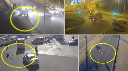 Diyarbakırdaki trafik kazaları MOBESE kameralarında