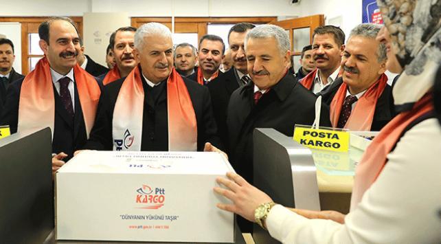 Başbakan Binali Yıldırım, DEAŞtan temizlenen el-Baba kargo gönderdi