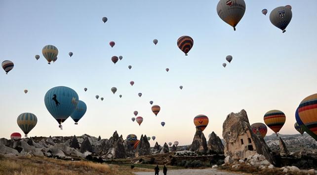 Kapadokyaya gelen turist sayısında büyük artış