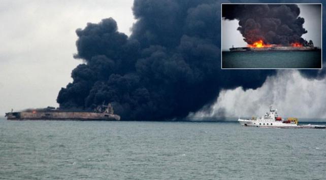 Çinde 5 gündür yanan petrol tankerinde patlama