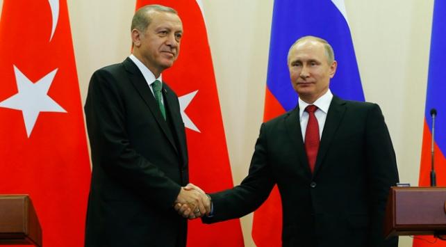 Cumhurbaşkanı Recep Tayyip Erdoğan ile Putin Suriyeyi görüştü