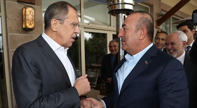 Dışişleri Bakanı Çavuşoğlu Rus mevkidaşı ile görüştü