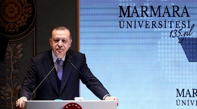 Cumhurbaşkanı Erdoğan, Marmara Üniversitesinde konuştu