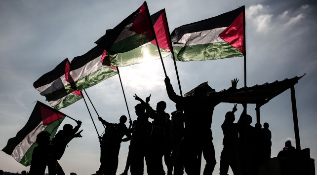 Gazzede ABDnin Kudüs kararı protestosu