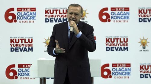 Cumhurbaşkanı Recep Tayyip Erdoğan Elazığda 6. Olağan İl Kongresinde konuştu